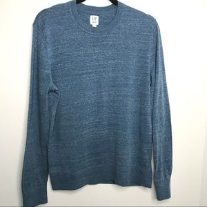 Gap men's Marl Light Blue Crewneck sweater size M